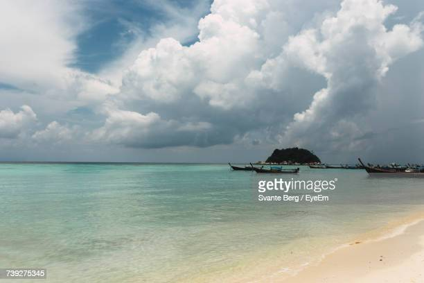 Scenic View Of Sea Against Cloudy Sky At Ko Lipe