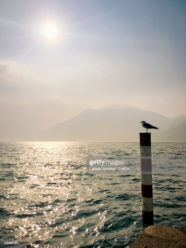 Scenic View Of Sea Against Sky During Sunset : Stock-Foto