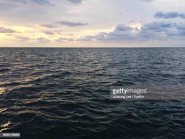 Scenic View Of Sea During Dusk