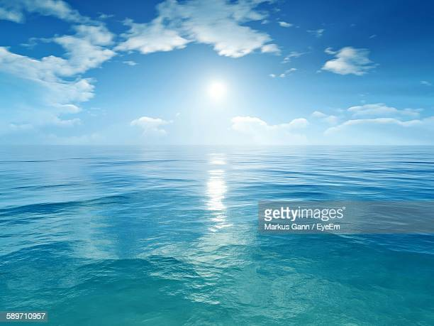 Scenic View Of Sea On Sunny Day