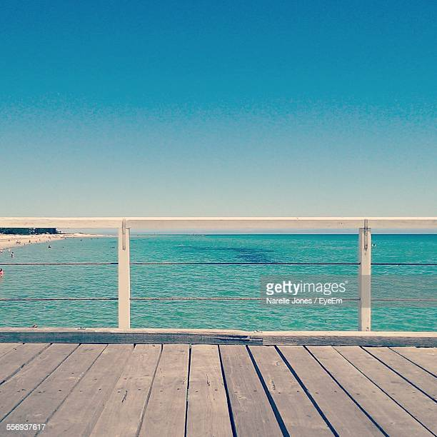 Scenic View Of Sea Seen From Pier