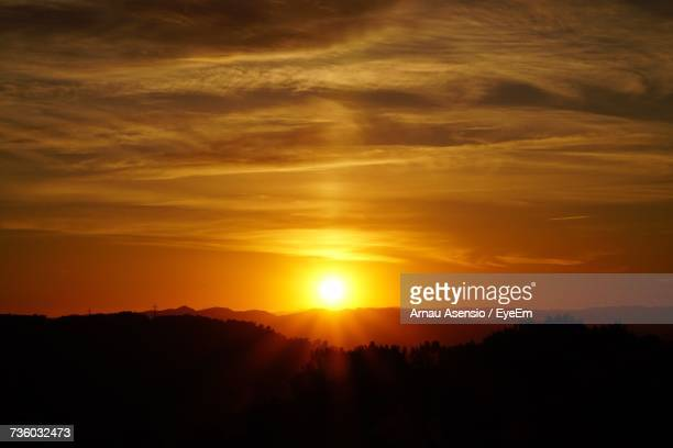 Scenic View Of Silhouette Trees Against Sky During Sunset