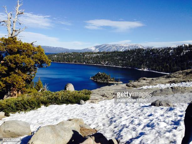 Scenic view of south lake tahoe during winter