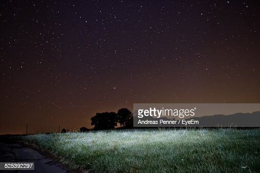 Scenic View of Star Field