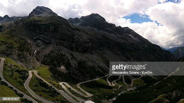 Scenic View Of Stelvio Pass