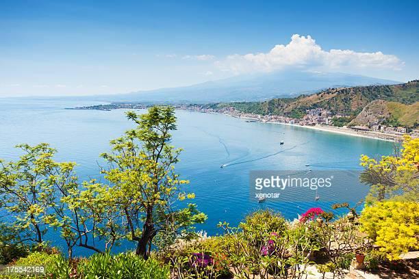 Küste Taormina auf Sizilien