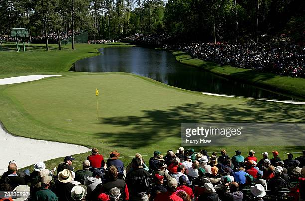 A scenic view of the 16th green during the third round of The Masters at the Augusta National Golf Club on April 7 2007 in Augusta Georgia