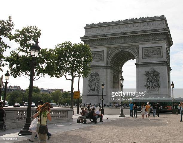Scenic view of the Arc de Triomphe photographed on August 21 2007 on Notre Dame in Paris France