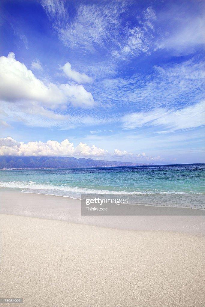blue ocean clouds scenic - photo #9