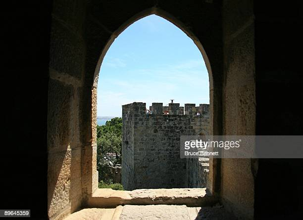 A scenic view of the Castelo de Sao Jorge in Lisbon Portugal on July 28 2009