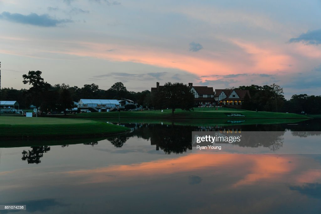 A scenic view of the clubhouse during sunset during the first round of the TOUR Championship, the final event of the FedExCup Playoffs, at East Lake Golf Club on September 21, 2017 in Atlanta, Georgia.
