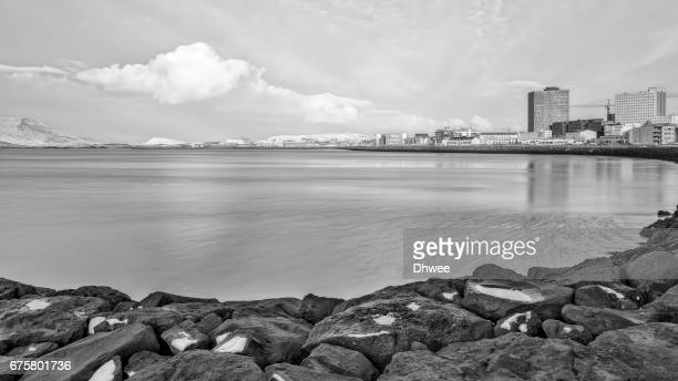 Scenic View Of The Coastline Of Reykjavik, Capital City Of iceland