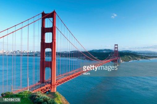 素晴らしい眺望のゴールデンゲートブリッジ