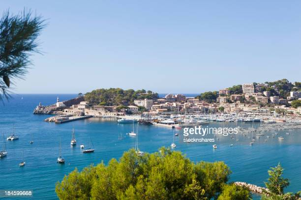 Scenic view of the Port de Soller Majorca
