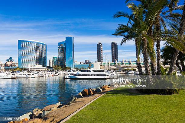 A scenic view of the San Diego skyline in California
