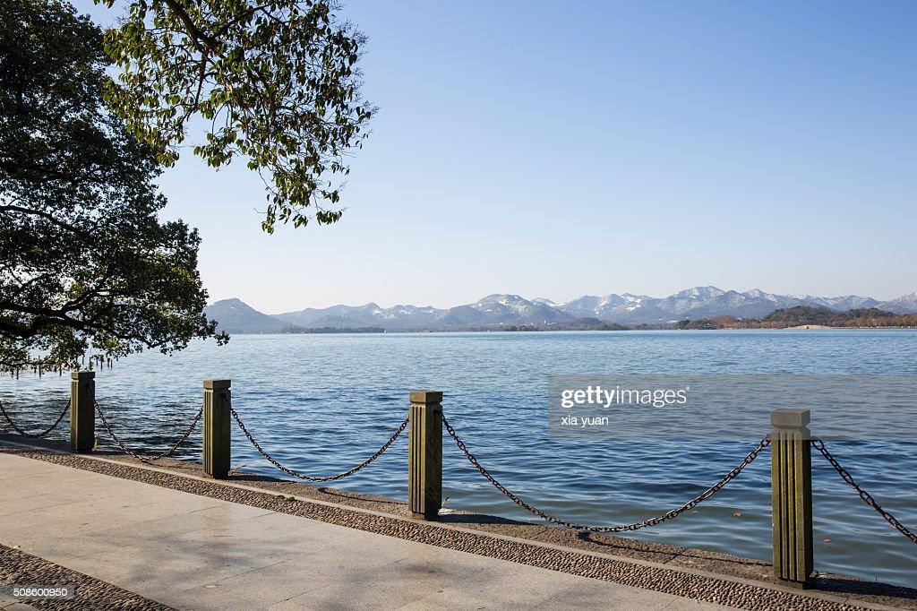 Scenic View Of the West Lake,Hangzhou,China : Stock Photo