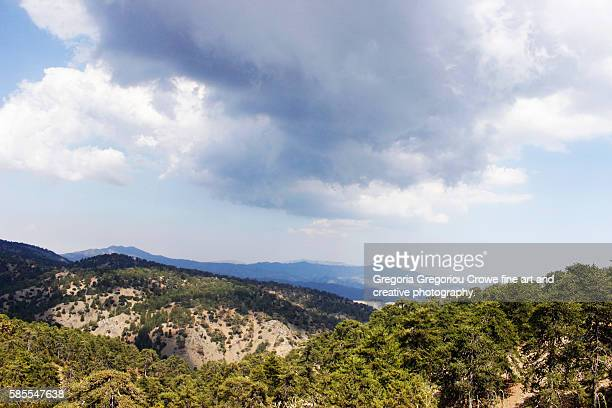 Scenic View Of Troodos Mountains