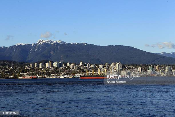 A scenic view of West Vancouver from Stanley Park photographed on June 3 2011 in Vancouver Britich Columbia Canada