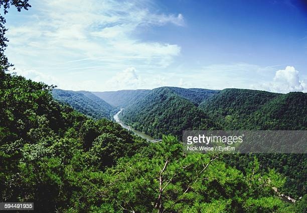 Scenic View Of West Virginia Hills Against Sky