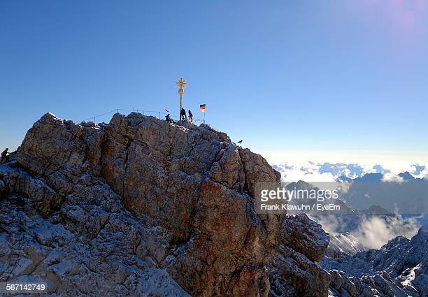 Scenic View Of Zugspitze Against Clear Blue Sky