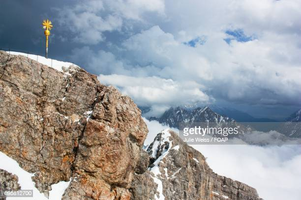 Scenic view of zugspitze mountain in winter