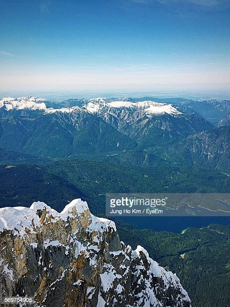 Scenic View Of Zugspitze Mountains Against Sky