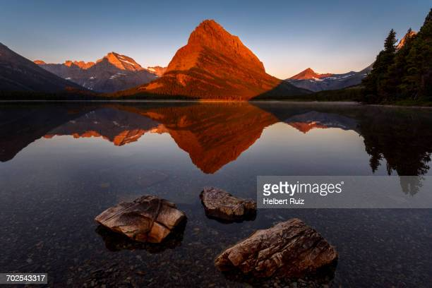 Scenic view, Swiftcurrent Lake, Glacier National Park, Montana, USA