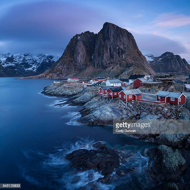 Scenic village of Hamnoy, near Reine, Moskenesoy, Lofoten Islands, Norway