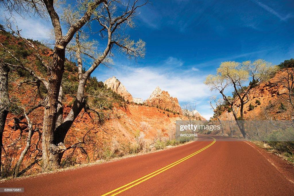 Scenic Zion Road : Stock Photo