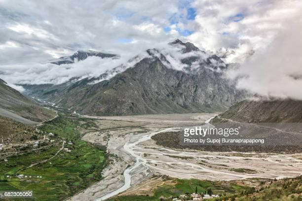 scenics of India road trip on leh manali highway in summer