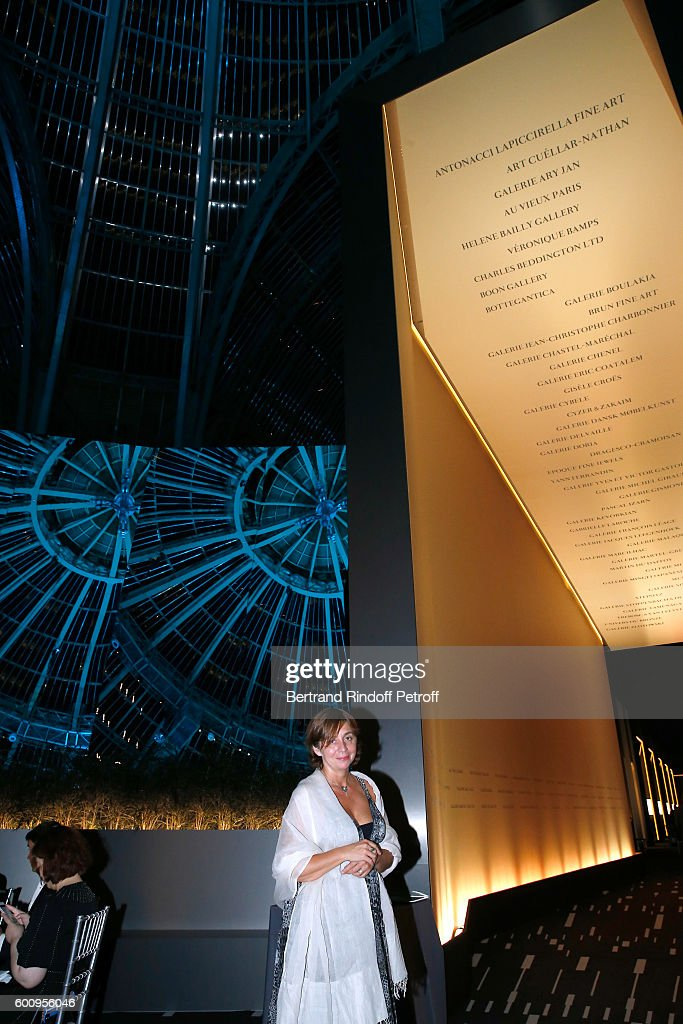 Scenographiste of the Event, Nathalie Criniere attends the 28th Biennale des Antiquaires : Pre-Opening at Grand Palais on September 8, 2016 in Paris, France.