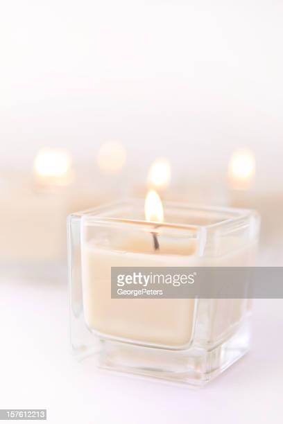 Scented Spa Candles with Copy Space
