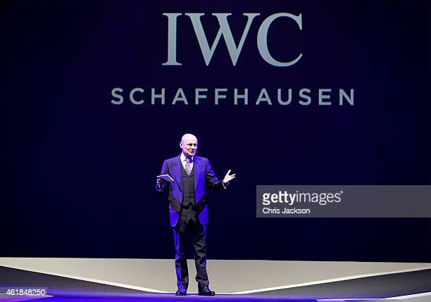 Schaffhausen CEO George Kern attends the IWC Gala Dinner during the Salon International de la Haute Horlogerie 2015 at the Palexpo on January 20 2015...