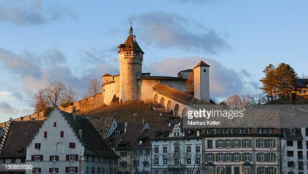 Schaffhausen - the Munot castle in the last sunlight - Switzerland, Europe.