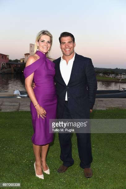 Schalk Brits and Colinda Wijnants attend The Costa Smeralda Invitational Gala Dinner at Cala di Volpe Hotel Costa Smeralda on June 17 2017 in Olbia...