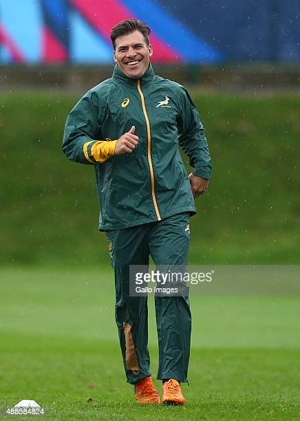 Schalk Brits during the South African Springboks training session at Eastbourne College on September 16 2015 in Eastbourne England