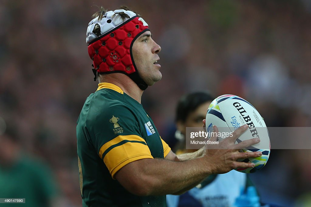 Schalk Brits of South Africa during the 2015 Rugby World Cup Pool B match between South Africa and Samoa at Villa Park on September 26 2015 in...