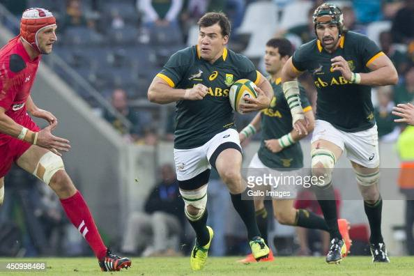 Schalk Brits of South Africa during the 2nd test match between South Africa and Wales at Mbombela Stadium on June 21 2014 in Nelspruit South Africa