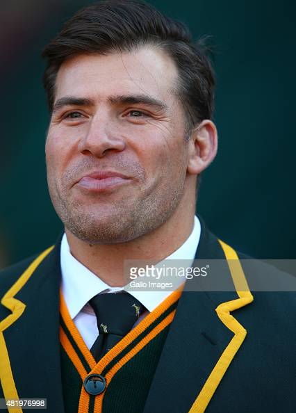 Schalk Brits of South Africa during The Castle Lager Rugby Championship 2015 match between South Africa and New Zealand at Emirates Airline Park on...