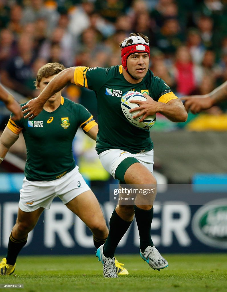 Schalk Brits of South Africa in action during the 2015 Rugby World Cup Pool B match between South Africa and Samoa at Villa Park on September 26 2015...
