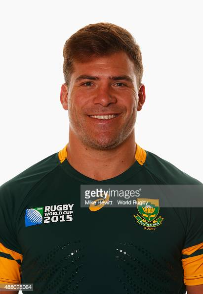 Schalk Brits of South Africa poses for a portrait during the South Africa Rugby World Cup 2015 squad photo call at the Grand Hotel on September 13...