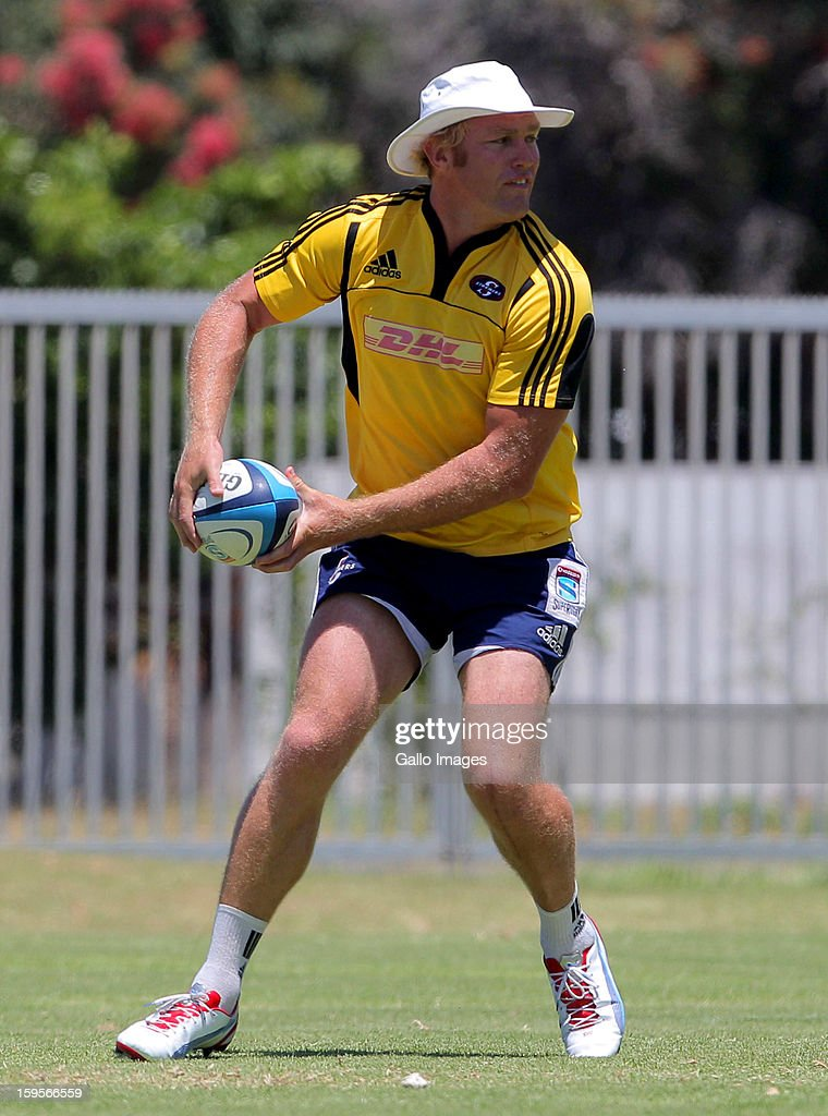 Schalk Burger in action during the DHL Stormers Open Media Day from Hermanus Primary School on January 16, 2013 in Hermanus, South Africa.