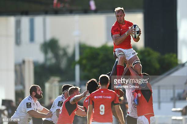 Schalk Burger of Saracens during the Rugby Champions Cup match between Toulon and Saracens on October 15 2016 in Toulon France