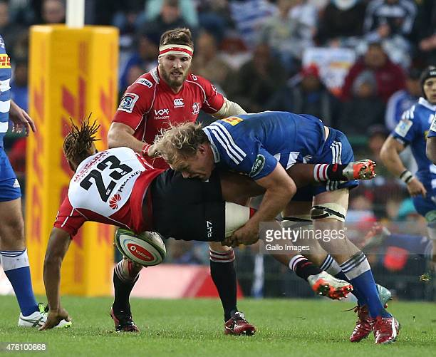Schalk Burger of the Stormers during the Super Rugby match between DHL Stormers and Emirates Lions at DHL Newlands Stadium on June 06 2015 in Cape...