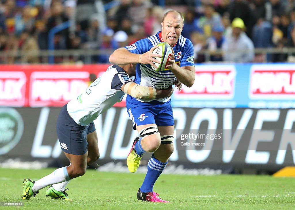 Schalk Burger of the Stormers during the Super Rugby match between DHL Stormers and Waratahs at DHL Newlands Stadium on April 30, 2016 in Cape Town, South Africa.