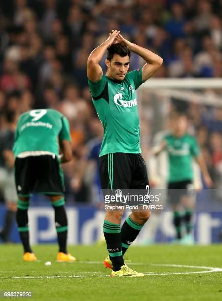 FC Schalke 04's Kaan Ayhan looks dejected