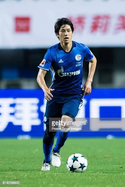 Schalke Defender Atsuto Uchida in action during the Friendly Football Matches Summer 2017 between FC Schalke 04 Vs Besiktas Istanbul at Zhuhai Sport...