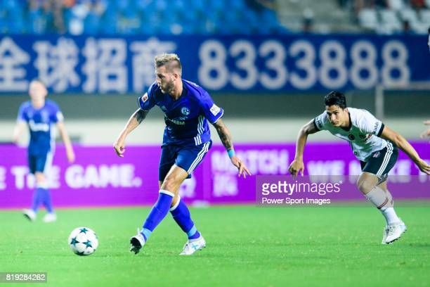 Schalke Forward Guido Burgstaller in action during the Friendly Football Matches Summer 2017 between FC Schalke 04 and Besiktas Istanbul at Zhuhai...