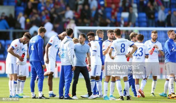 Schalke manager Domenico Tedesco during the preseason friendly match at Selhurst Park London