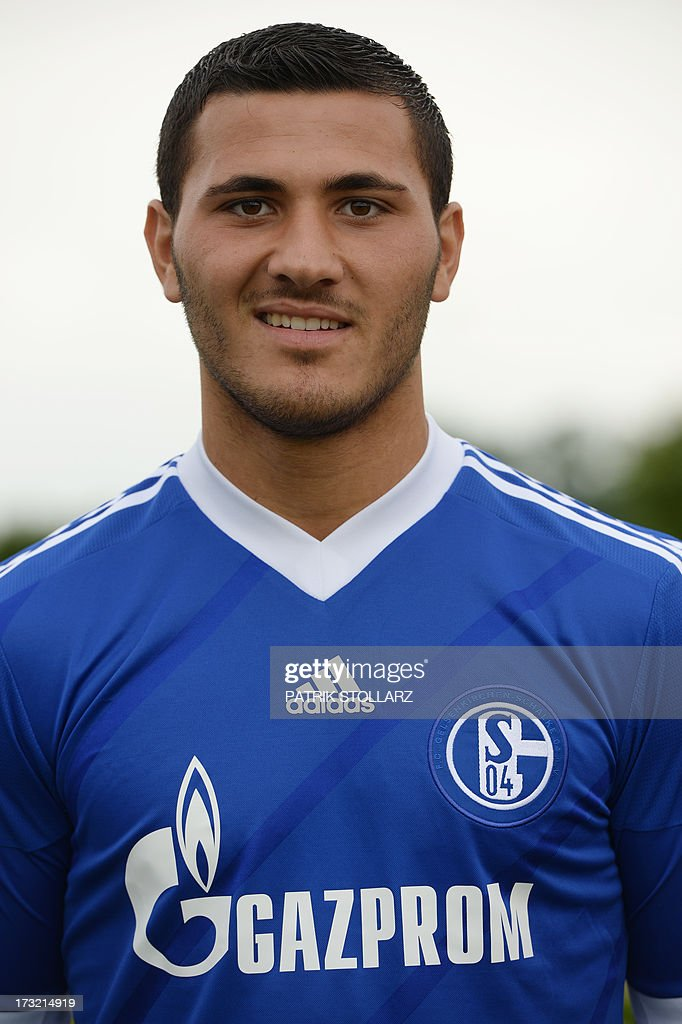Schalke's defender Sead Kolasinac poses during a team photo call of German first division Bundesliga football club Schalke 04, on July 10, 2013 at the grounds of the former coal mine 'Consolidation' in Gelsenkirchen, western Germany. AFP PHOTO / PATRIK STOLLARZ